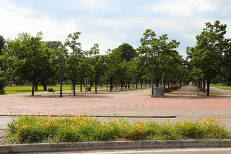 Public park called Campo Marzo in Vicenza City in Northern Italy