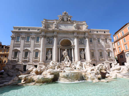 Fountain of Trevi in Rome Capital of Italy without people