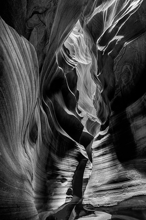 View of upper Antelope Canyon Stock Photo