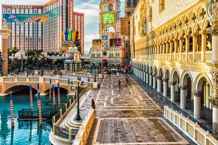 LAS VEGAS - 31- MAY 2017 - Unkown people walk in The Venetians Casino and Resort in Las Vegas, Nevada