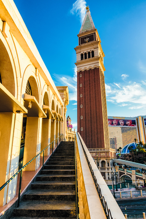 LAS VEGAS - 31 MAY 2017 - The Venetian Resort Hotel Casino is a five-diamond luxury hotel and casino resort located on the Las Vegas Strip in Paradise, Nevada, United States, on the site of the old Sands Hotel.