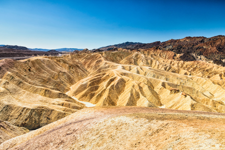 panoramic view of zabriskie point in Death Valley National Park, California Stock Photo