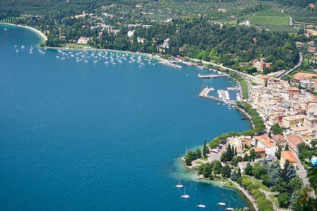 garda: A view of Garda, in Lake Garda, Italy Stock Photo