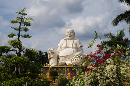 Gigantic Sitting Buddha at the Vinh Tranh Pagoda in My Tho, the Mekong Delta