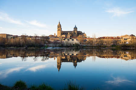 View of Salamanca from Rio Tormes, Spain Editorial