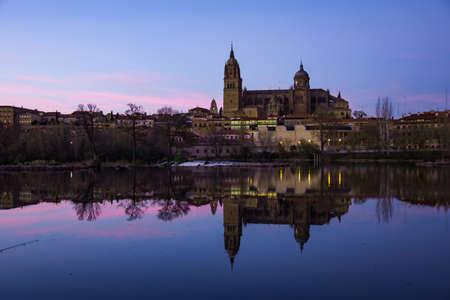 alte: Sunset in Salamanca, Spain