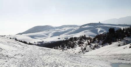 snowy trails 스톡 콘텐츠