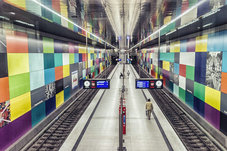 subway station: Modern Subway Station in Munich