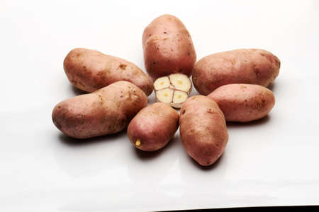 beautiful tubers carefully wash the brush, for greater security, they scald Stock Photo