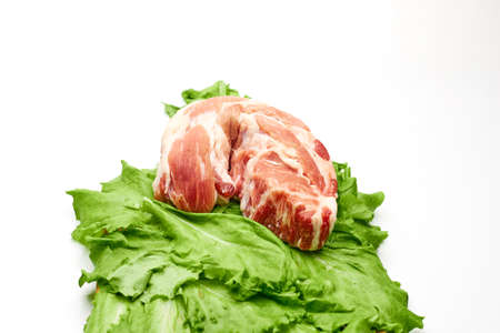 meat contains vitamin B12,D and minerals iron, sodium, magnesium, potassium, calcium phosphorus Stock Photo