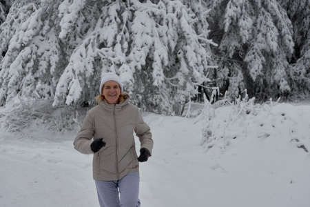 sport winter in the forest strengthens the cardiovascular and respiratory system of our body