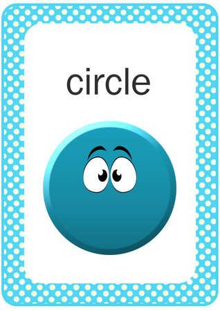 circle shape: Printable Baby Shape Flash card - Circle Stock Photo