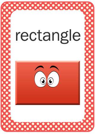 rectangle: Printable Baby Shape Flash card - Rectangle Stock Photo