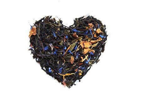 Lot of tea - heart form