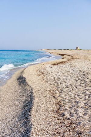Sunny day at Ai Giannis (Gyra) beach on the island of Lefkada, Greece
