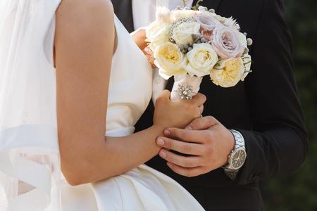pair of loving newlyweds
