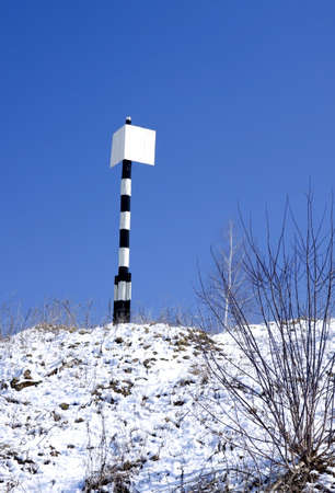 Leading beacon used for river ship navigation Stock Photo - 2753915