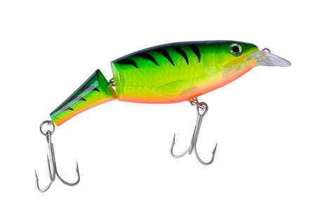 jointed: Big tiger painted jointed lure, clipping path included