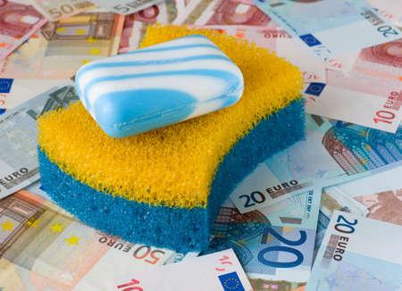 money laundering: Symbol of financial fraud - money laundering