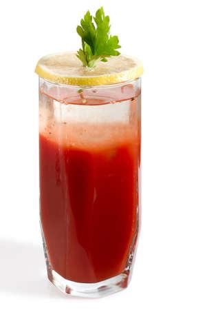 rainbow cocktail: Nizza doppio strato Bloody Mary Cocktail, clipping path Archivio Fotografico