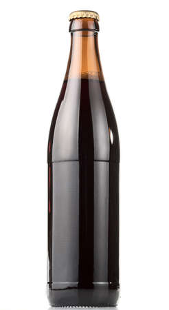 ported: Bottle of dark beer, clipping , no label Stock Photo
