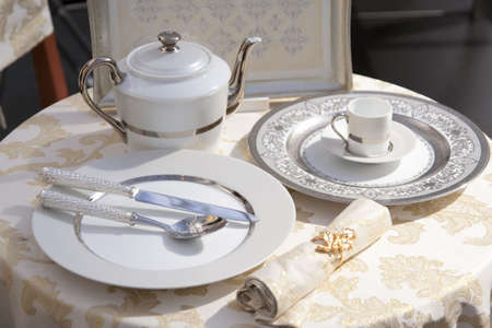 Expensive royal style table set  photo