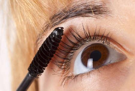 Eye makeup - mascara brush Stock Photo - 5614396