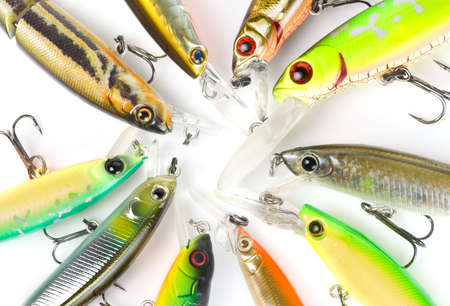 Plastic fishing lures, extreme close-up 1002.8 Macro lens used