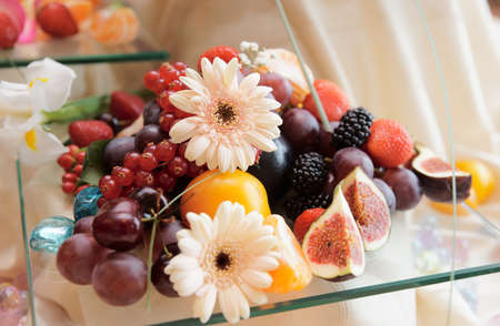 Fruits on banquet table shot during catering event Stock Photo - 7802124