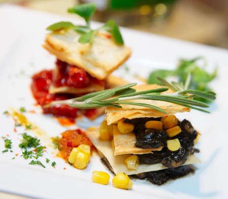 Nuevo estilo plato de la cocina mexicana en plato de porcelana