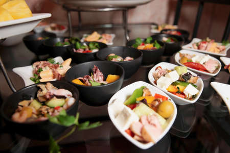 buffet lunch: Snacks on banquet table - picture taken during catering event