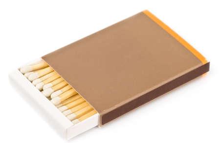 matchbox: Blank matchbox and matches isolated on white Stock Photo