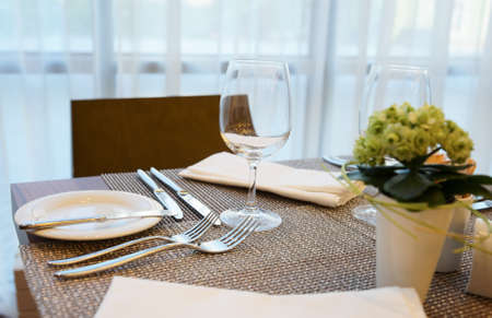 decorated dinning table photo