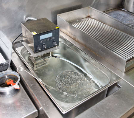Low temperature boiling machine - new technology cuisine photo