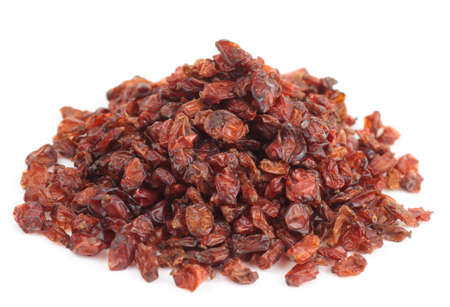barbery: Barberry heap isolated on white background