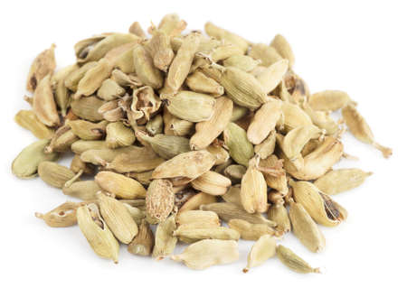 cardamum: Cardamom heap isolated on white background