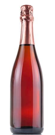 Bottle of champagne isolated on white background photo