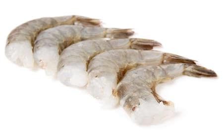 Rauwe garnalen op een witte achtergrond