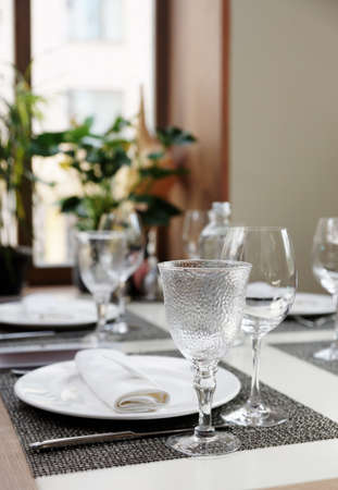 haute: Place setting in an expensive restaurant