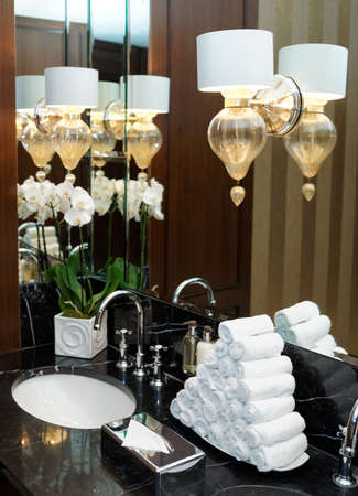 Restroom in hotel or restaurant, detail photo