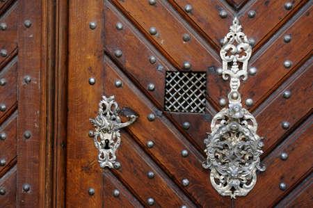 Old style wooden door photo