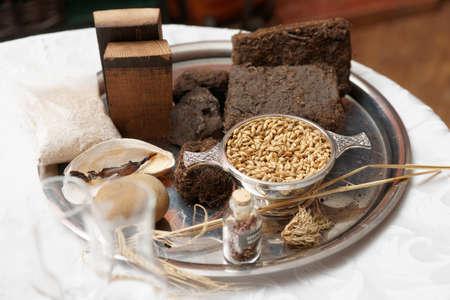 turba: Componentes del sabor del whisky - césped, brezo, avena, etc