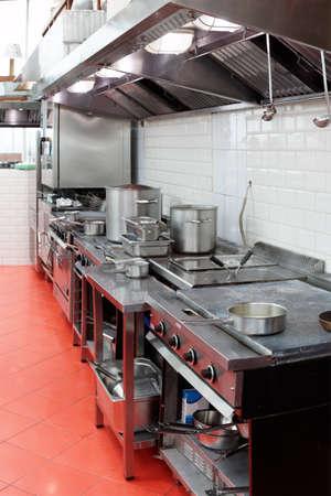 Typische keuken van een restaurant