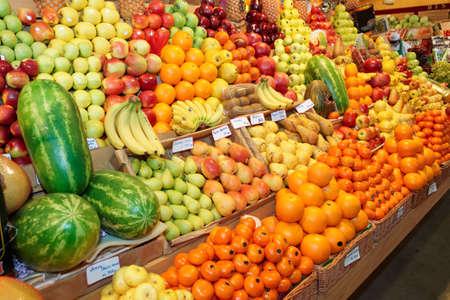 Fruits on a farm market photo