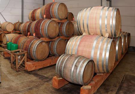 pinot noir: Oak casks with Pinot Noir (PN) red wine
