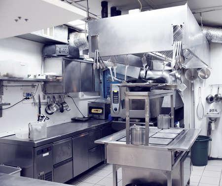 Typische Küche eines Restaurants, getönten Lizenzfreie Bilder