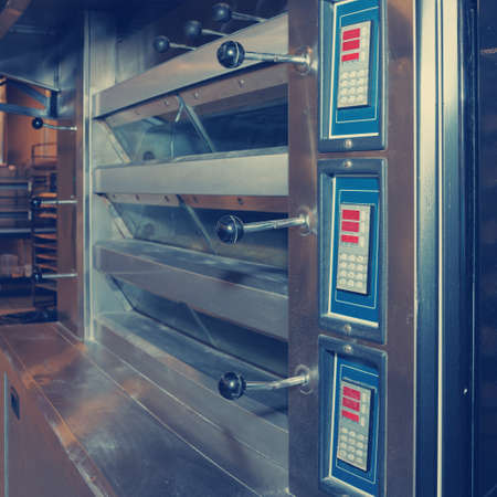 toned: Modern pizza oven, toned image Stock Photo