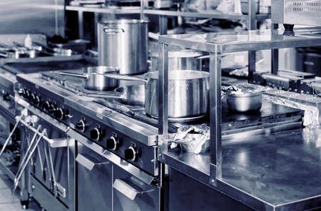 retro kitchen: Typical kitchen of a restaurant