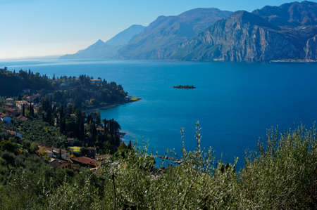 garda: Garda lake in autumn, northern Italy