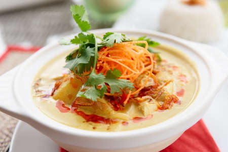 curry dish: Bowl of spicy curry dish, Thai cuisine